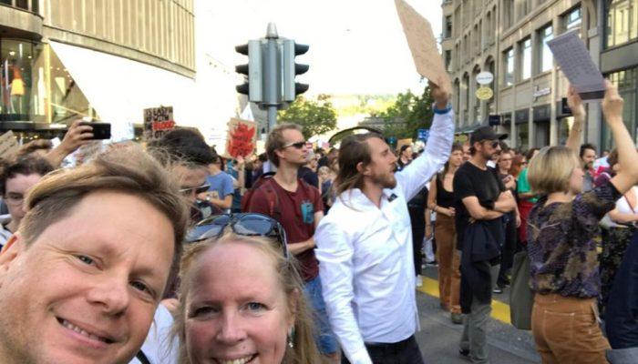 Michi & Eliza am Klimastreik gestern in Zürich