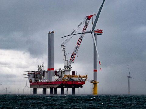 Windkraftmontage