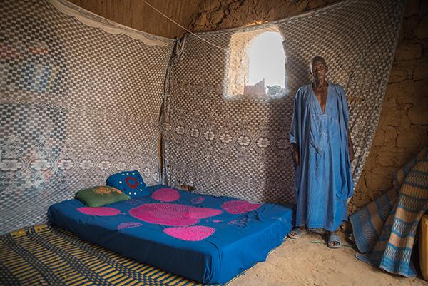 Nubisches Gewölbe mit Bewohner