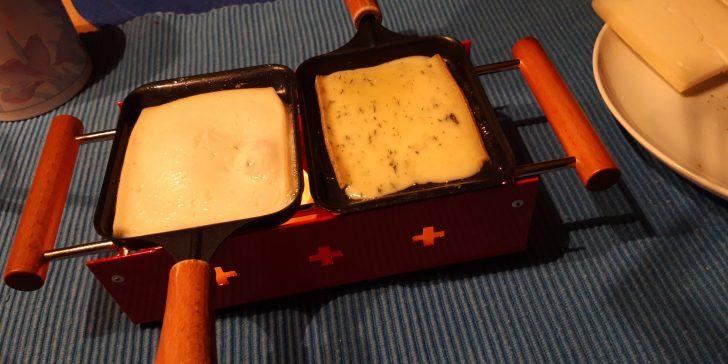Racletteofen für zwei mit Teelichtern betrieben