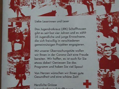 Blatt des Jugendrotkreuzes Schaffhausen vom Dezember 2020