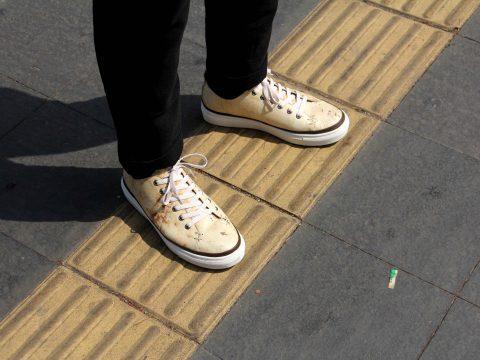 Sneakers aus Pilzleder