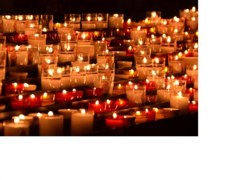 Mariä Lichtmess, Brigid, Imbolc: Ganz viele Kerzen brennen.