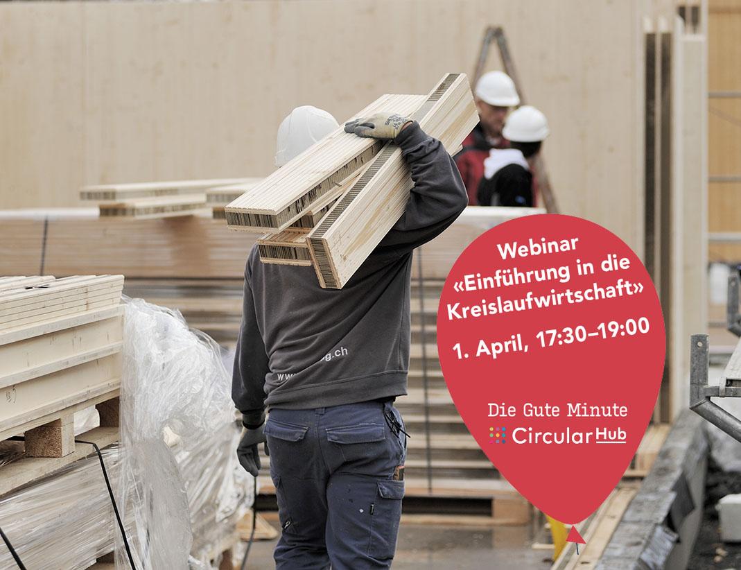 Baustelle, auf der Ecocell-Leichtbauplatten verwendet werden