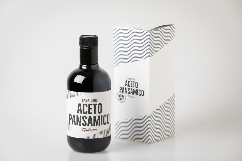 Aceto Pansamico: Flasche und Karton