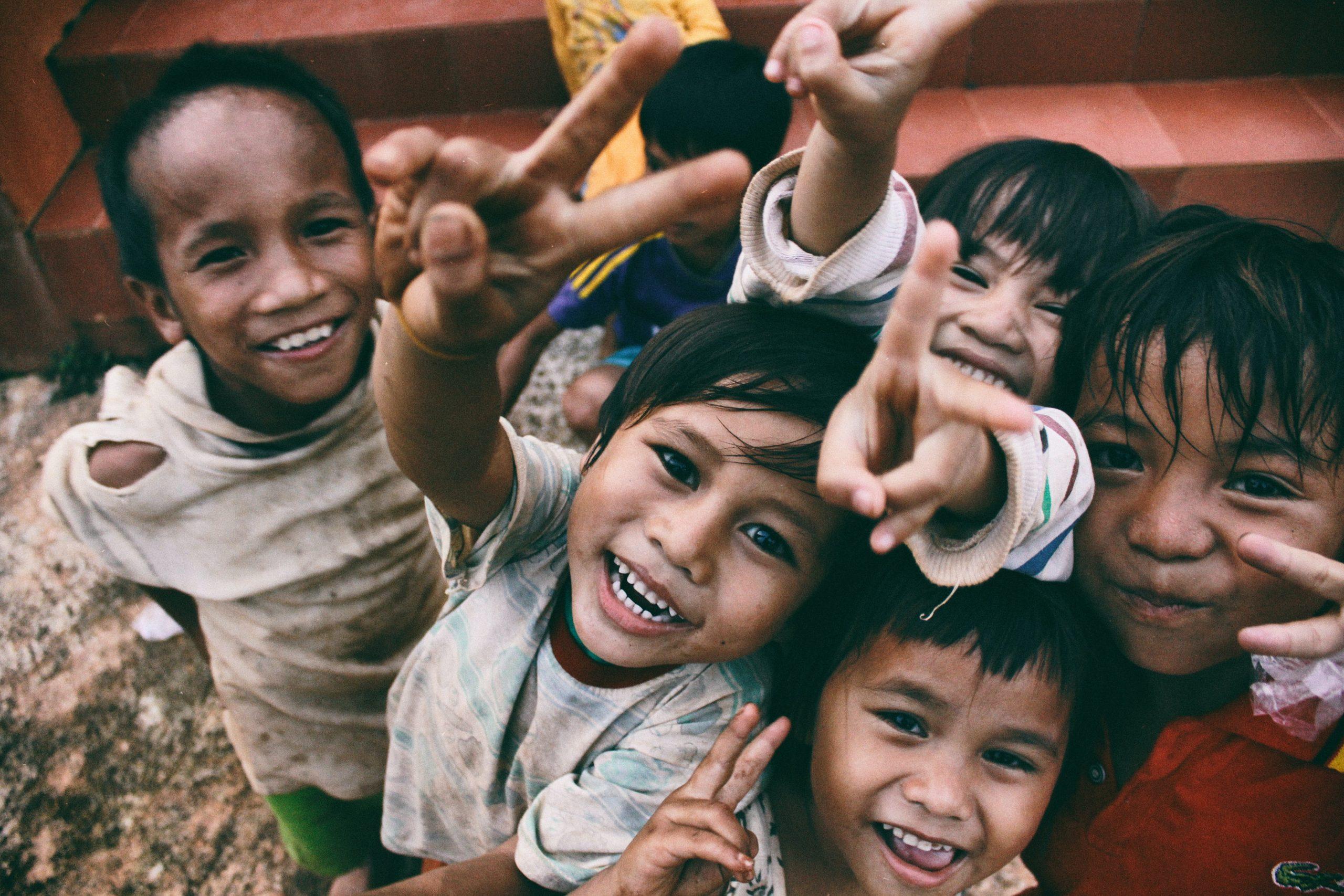 Kinder in einem Drittweltland